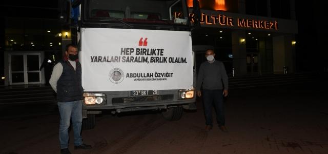 Mersin Yenişehir Belediyesi'nden İzmir'e Yardım Eli