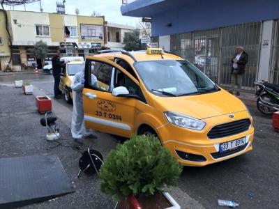 Mersin'de  Şoförler odası koronavirüse karşı dezenfekte çalışması başlattı.