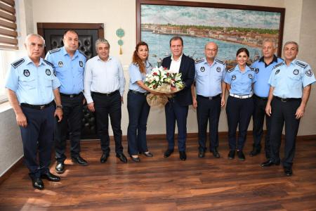 Zabıta Personeli Başkan Seçer'i Ziyaret Etti